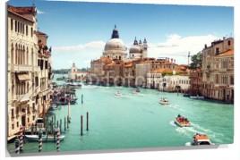 Murales Gran Canal y Basilica de Santa Maria de la Salud en Venecia